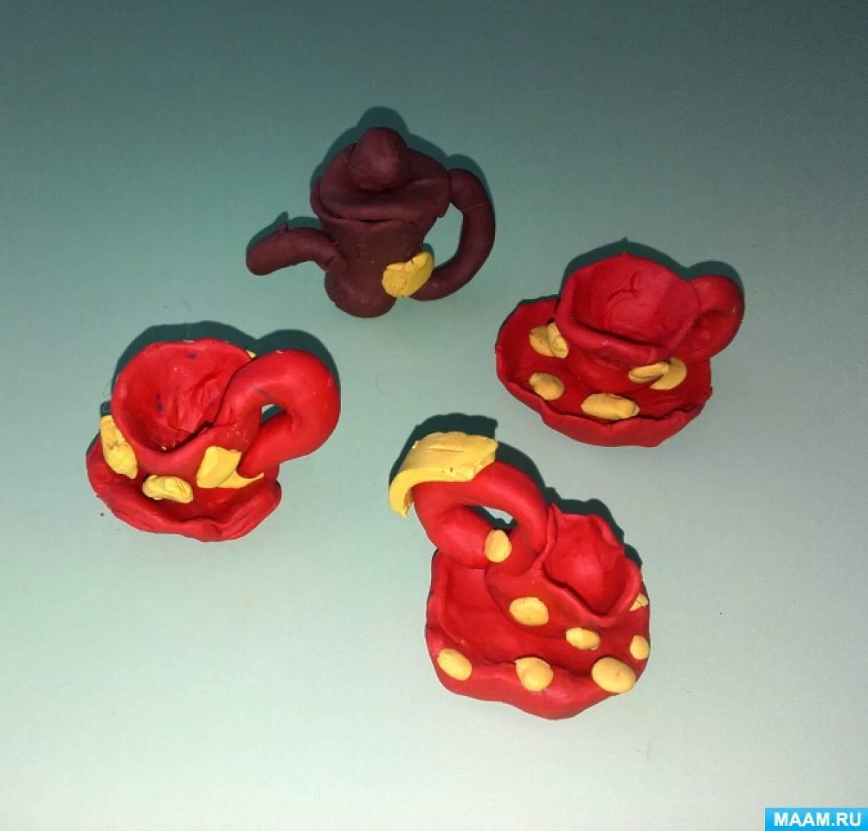 Лепка коллективная из пластилина «Чайный сервиз для любимых игрушек»