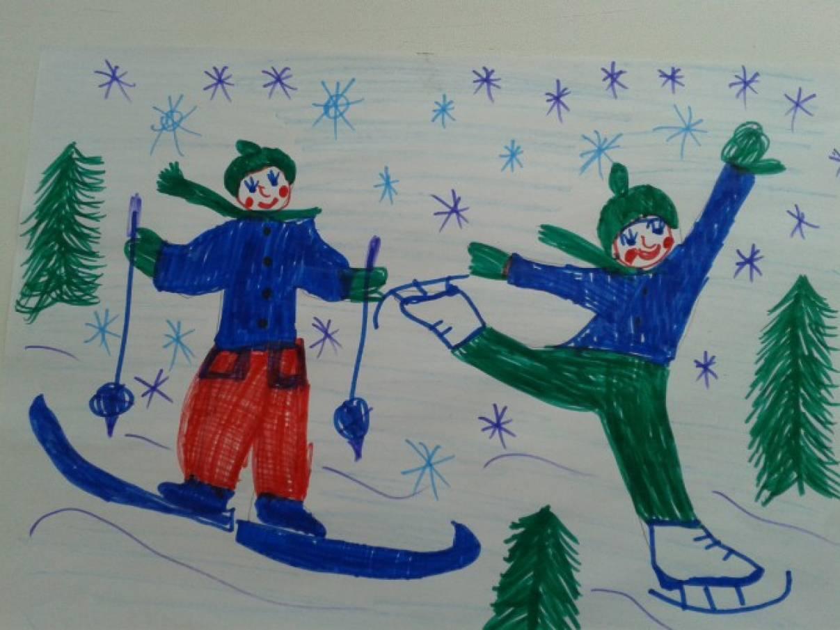 Конспект занятий по математике на тему зимние развличения в средней группе