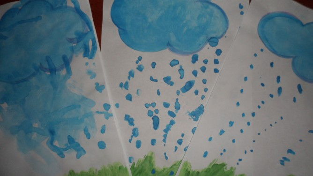 рисунок идет дождь средняя группа мне очень