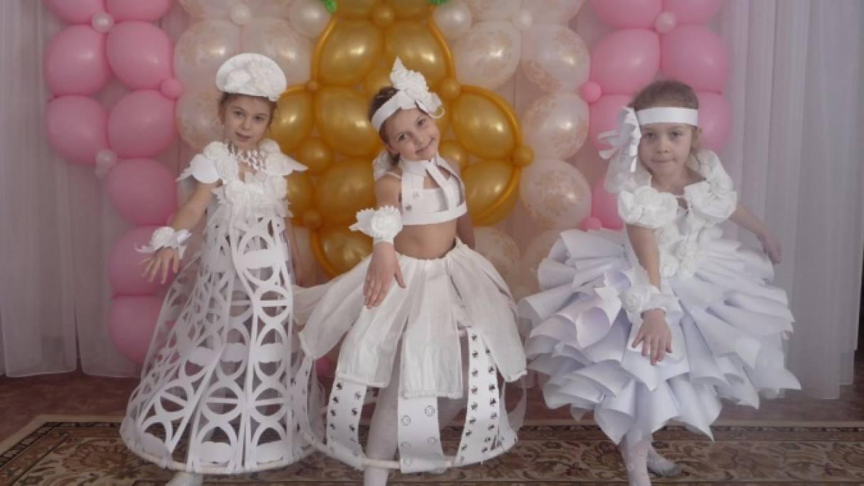 Как сделать девочки платье из бумаги с фото