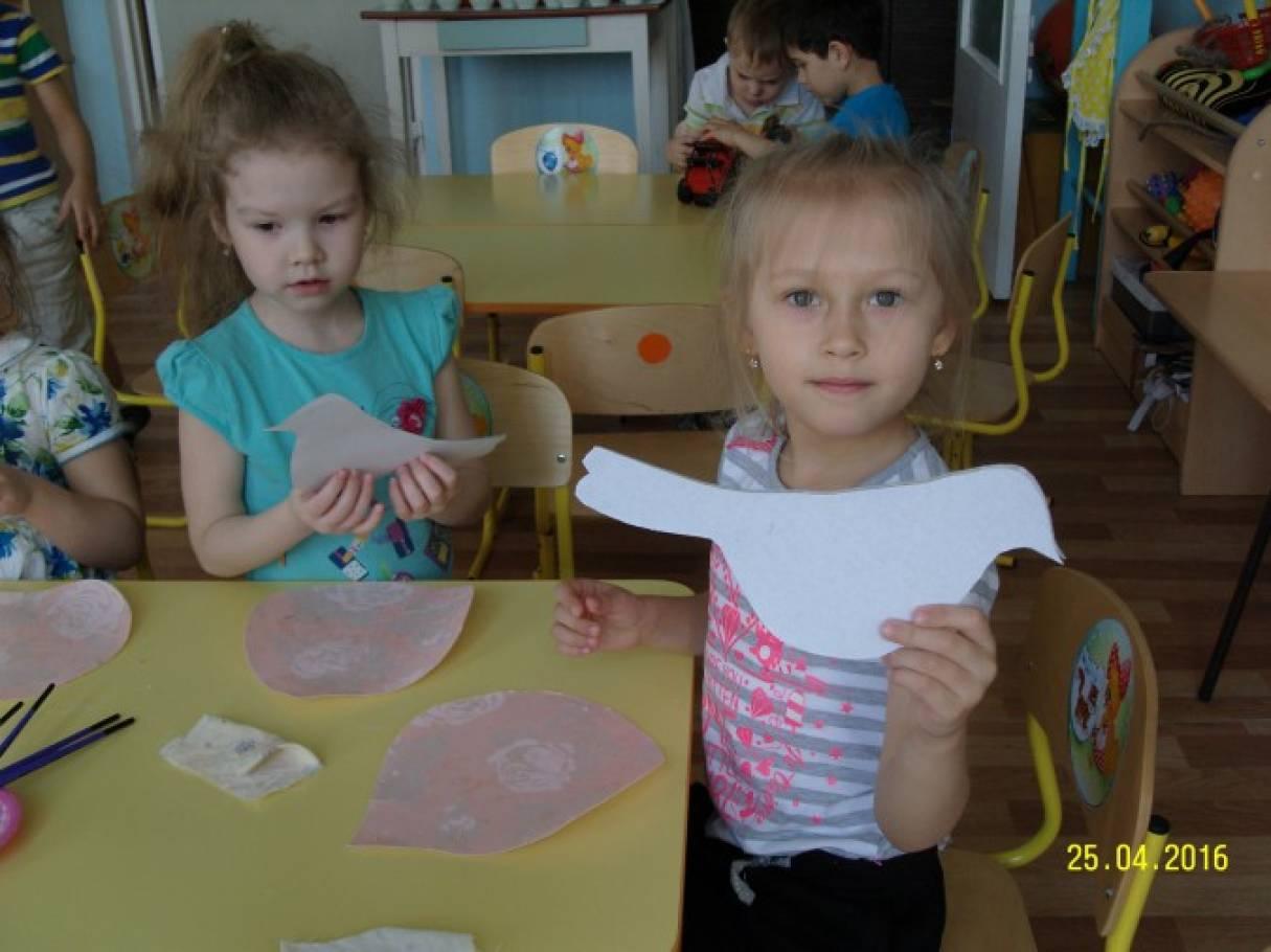 «Голубь мира» Мастер-класс для детей средней группы