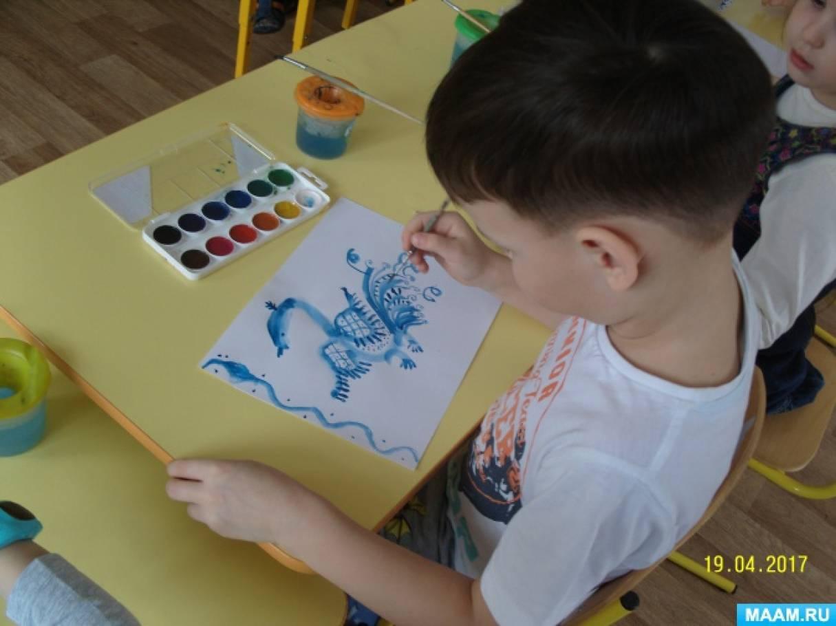 знакомство с искусством гжельской росписи