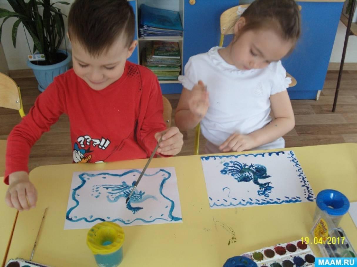 Конспект занятия по декоративному рисованию гжель в подготовительной группе