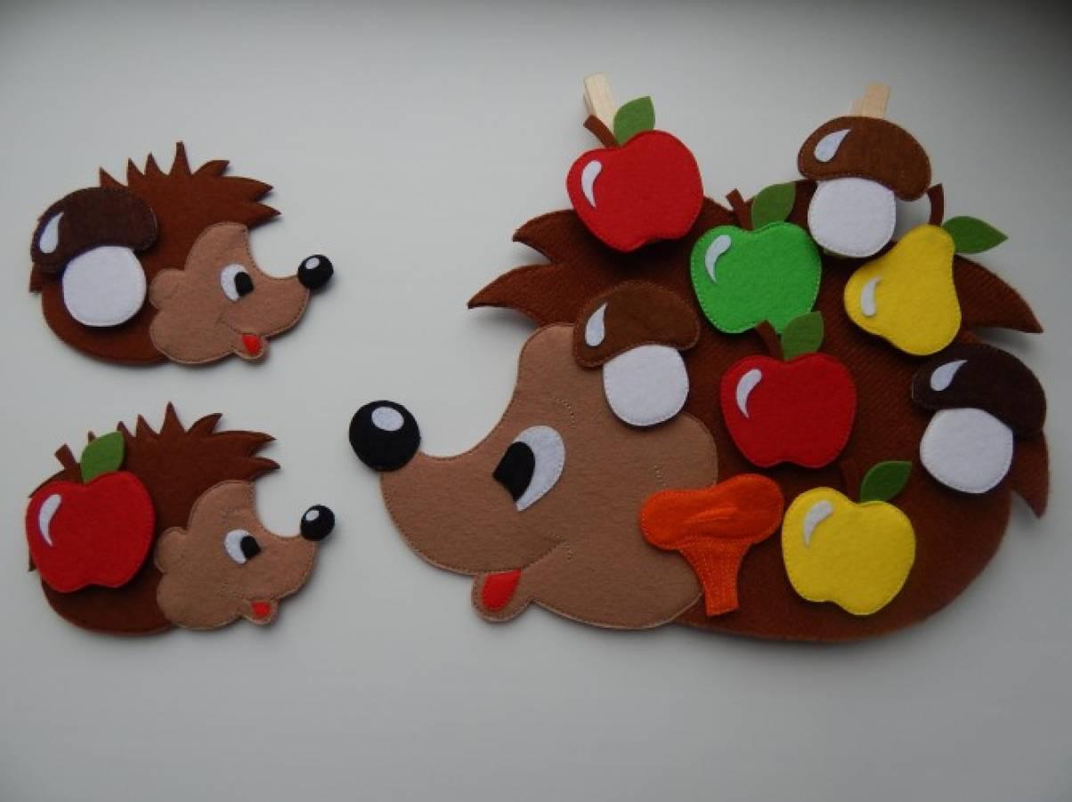 картинки для детей ежик с яблоками