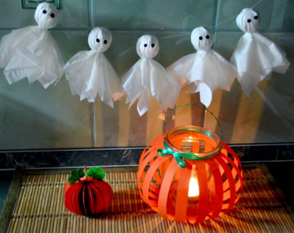 Мастер-класс: поделки к празднику Хэллоуин (тыквы и привидения)