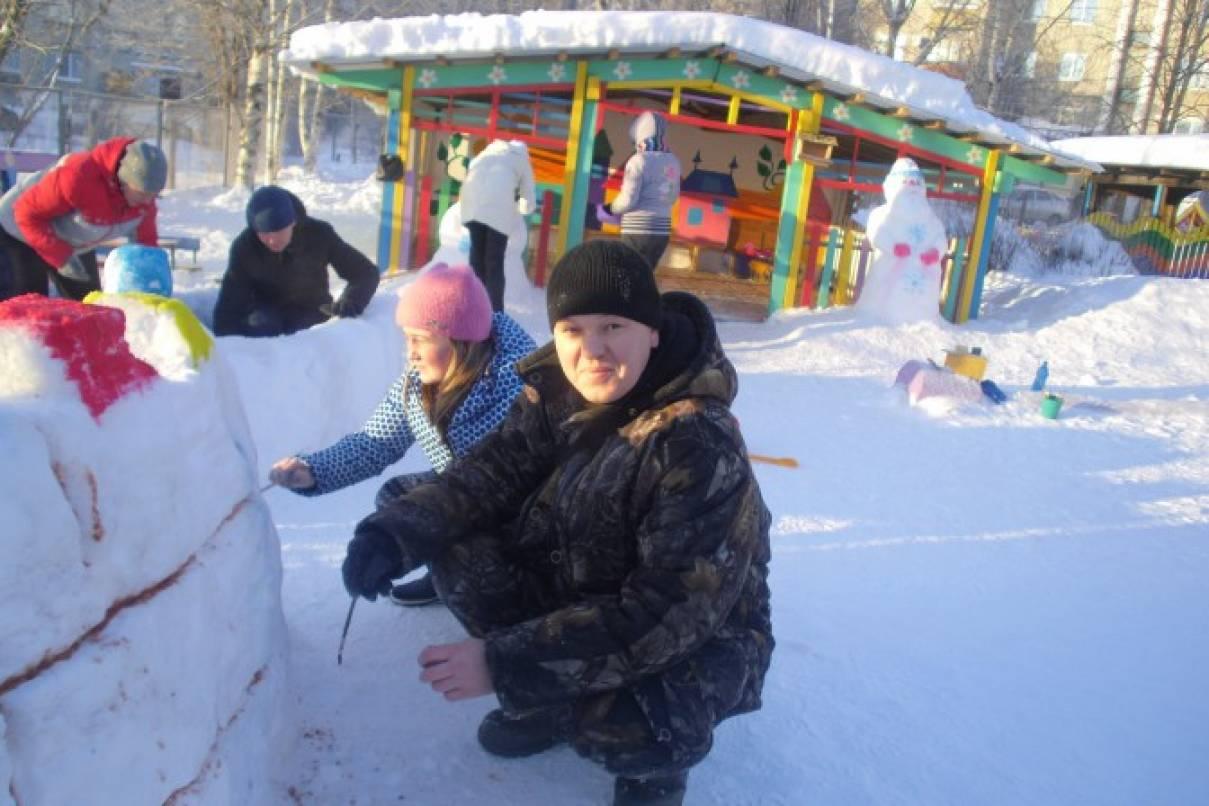 Оформление площадки в зимний период