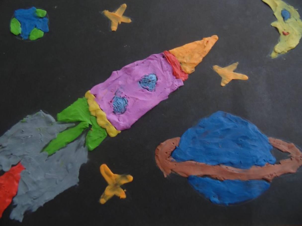изделие лепка картинки космос родители