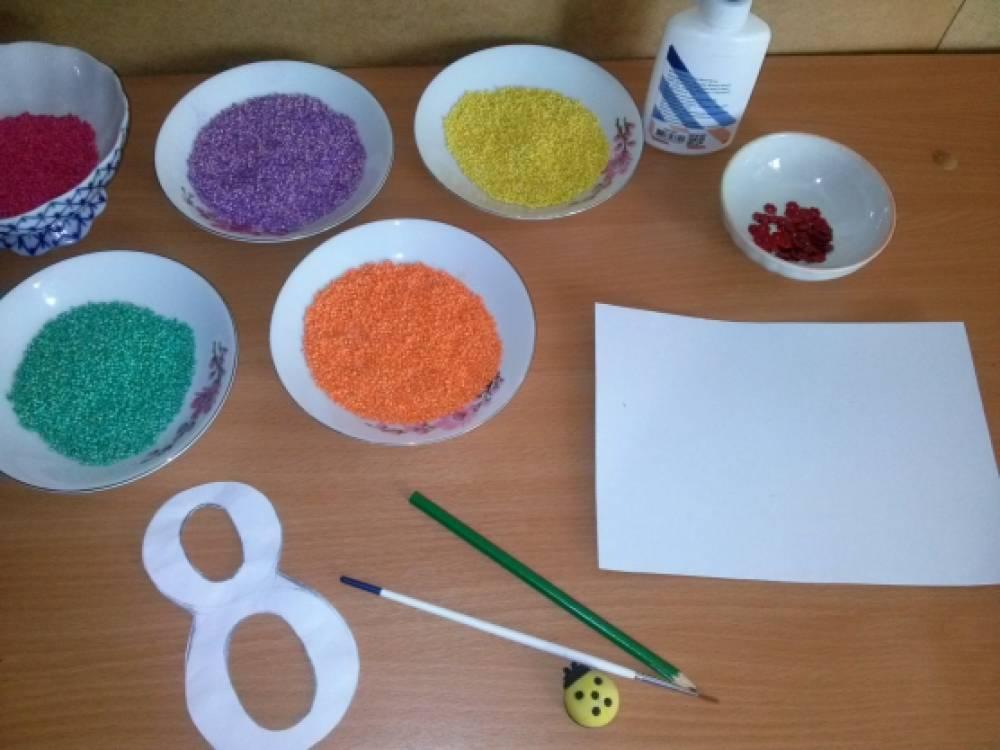 Как покрасить пшено для поделки 21
