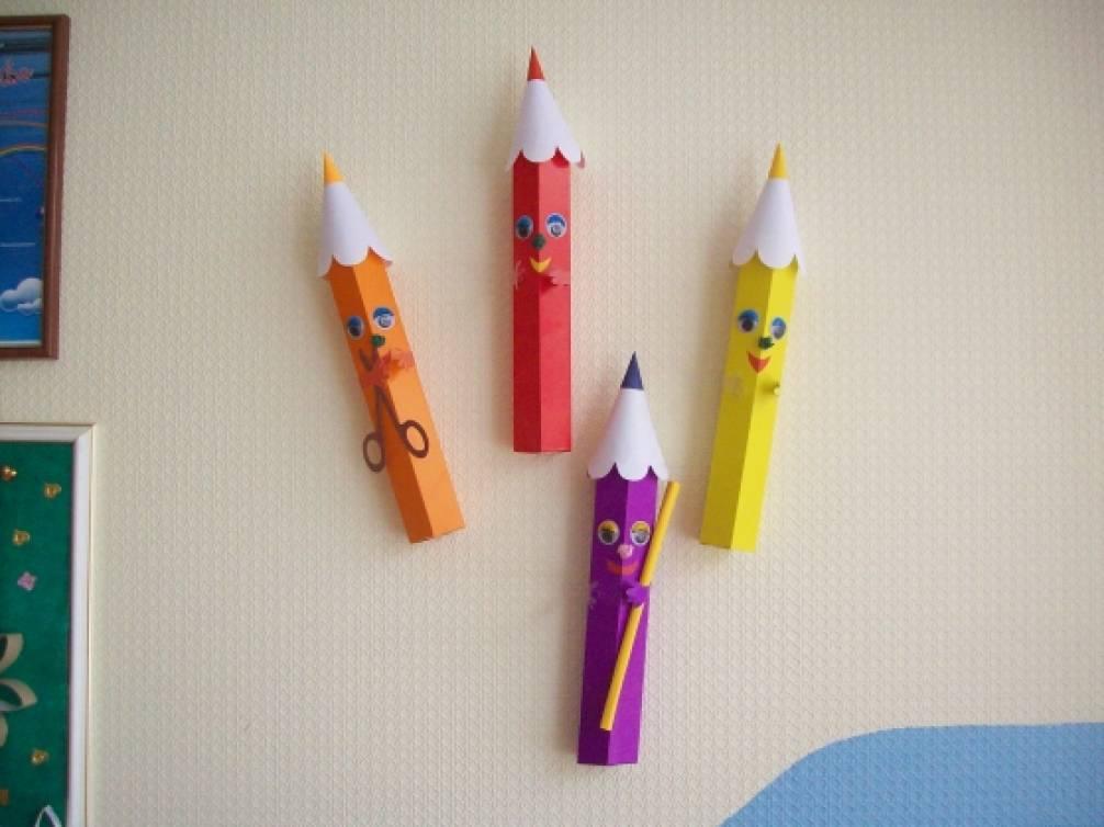 Поделка на карандаше и картоне