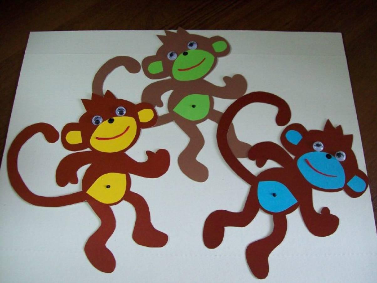 поделка обезьянка из картона самым