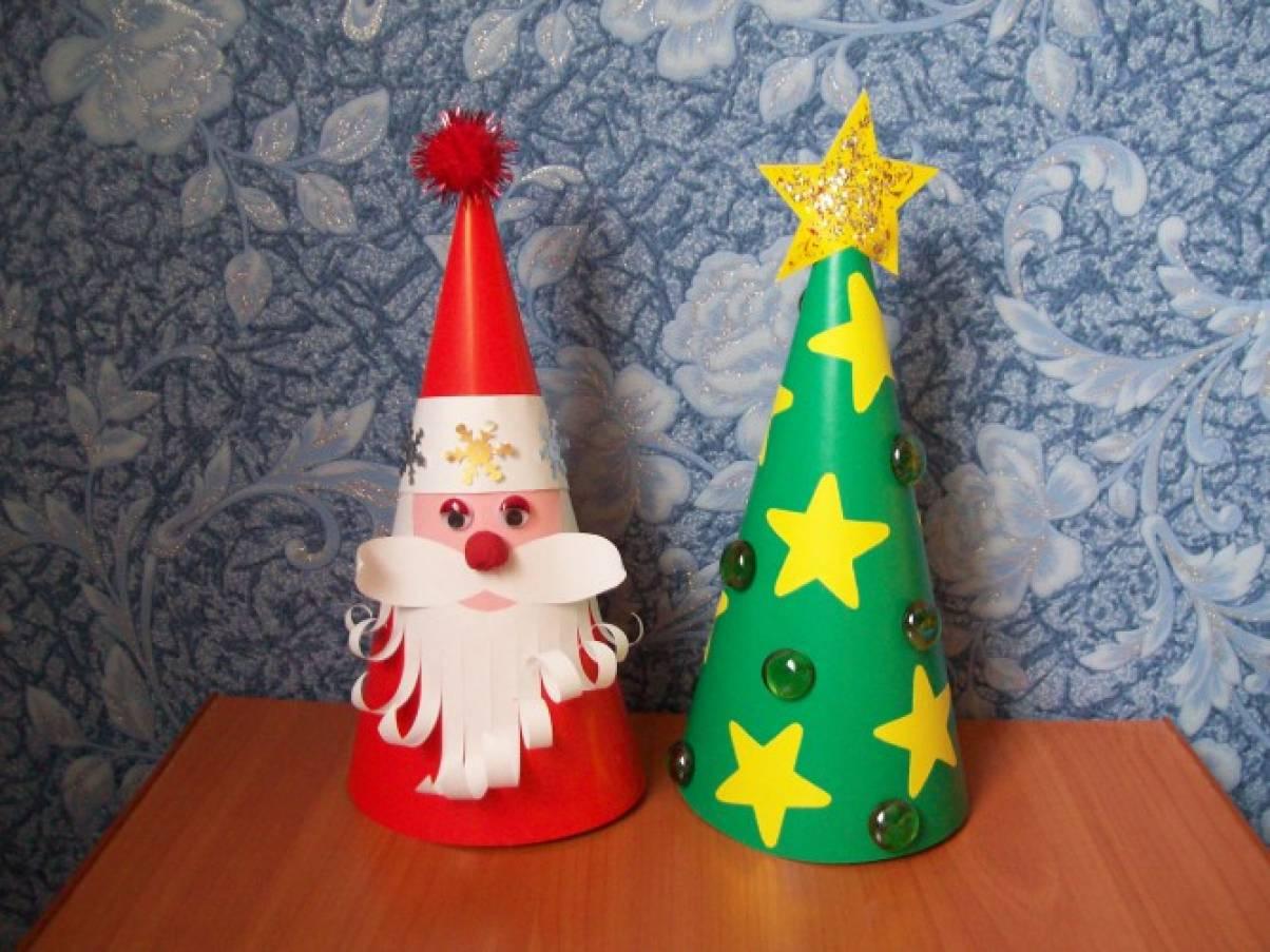 Дед мороз поделки из картона 66