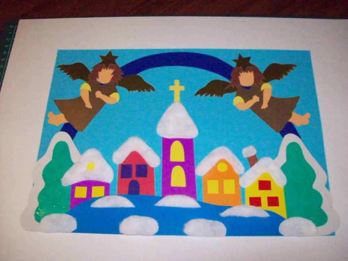 стен рождественская история открытка аппликация выглянул