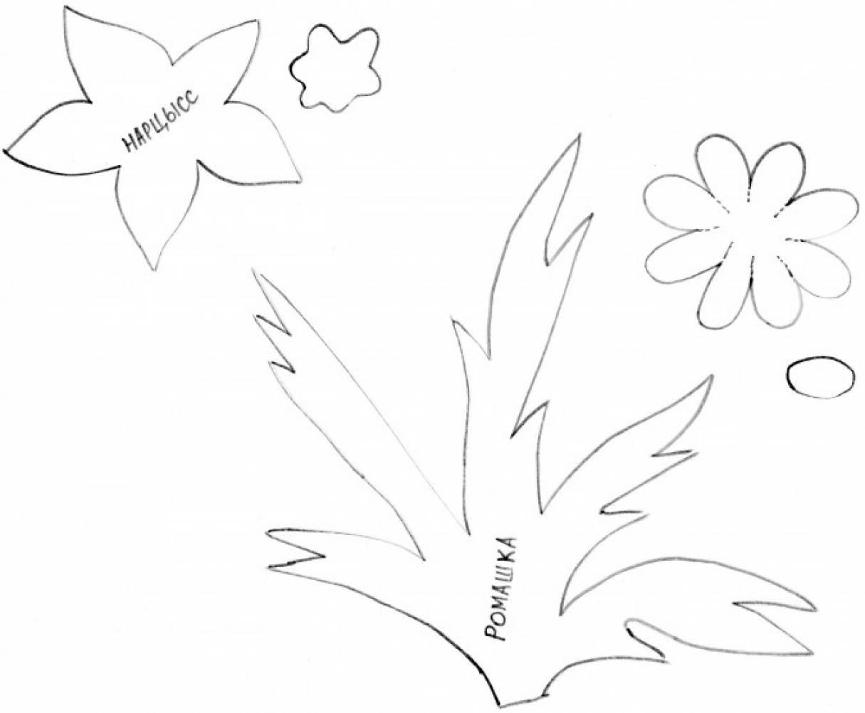 шаблоны цветов на открытку к 9 мая чувствительные