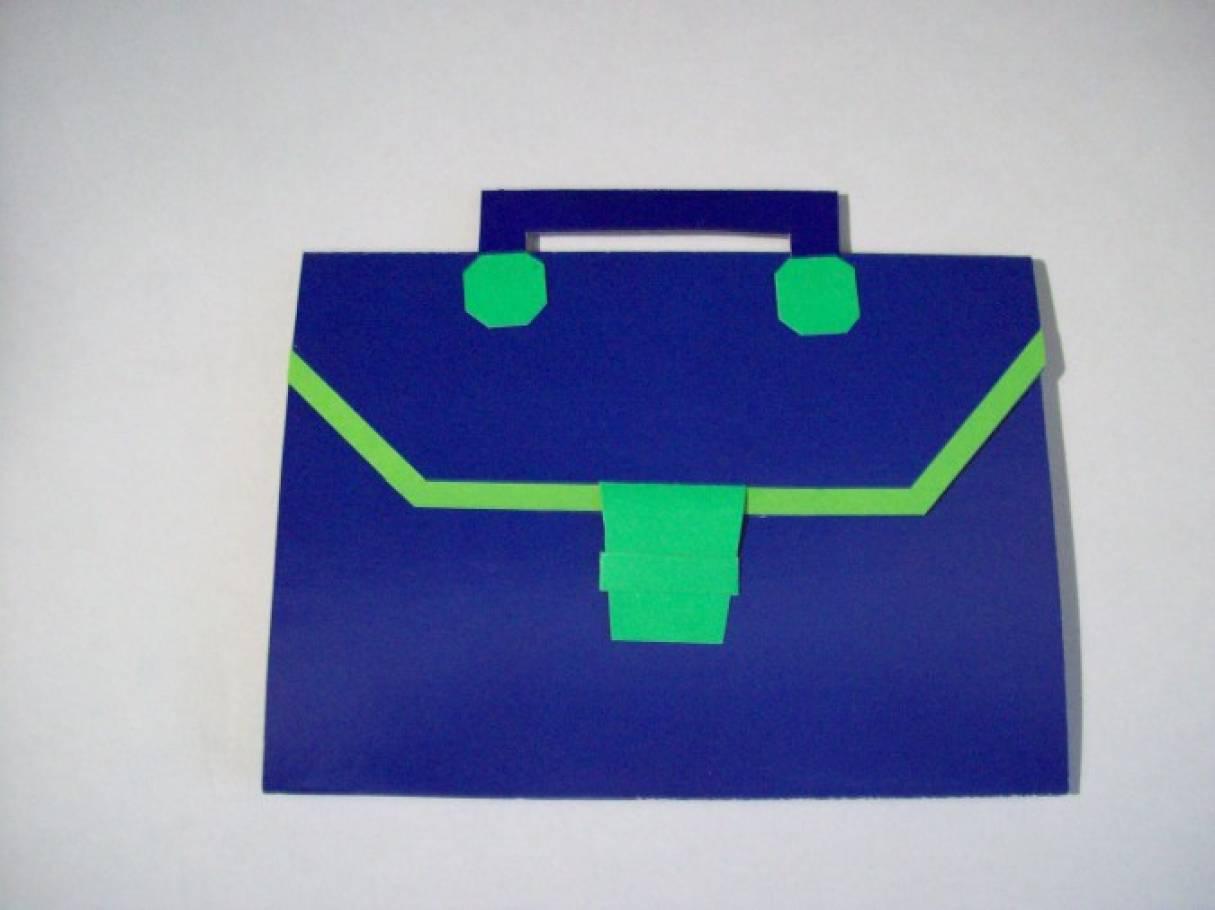 Оригами поделка портфель 8