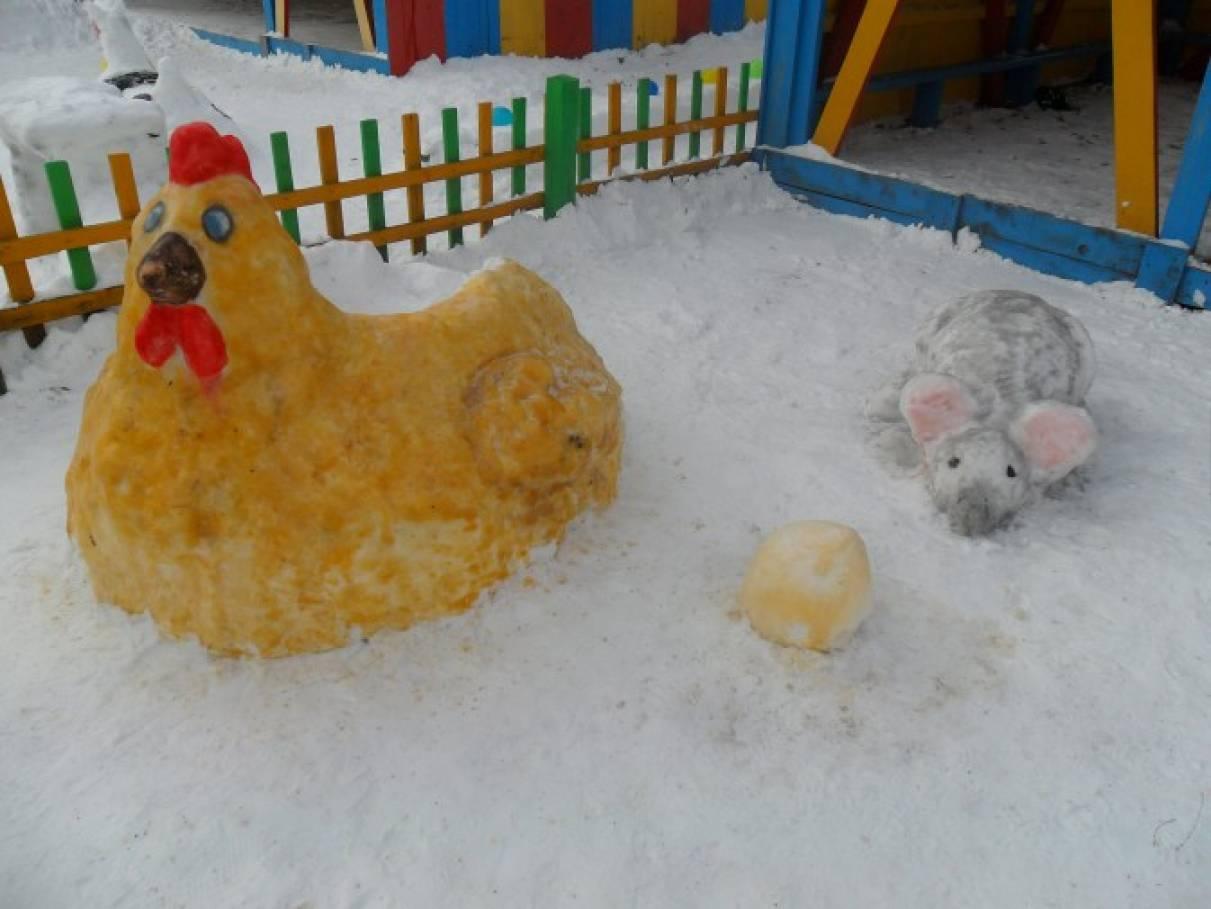 Поделки из снега на участке детского сада своими руками фото 16