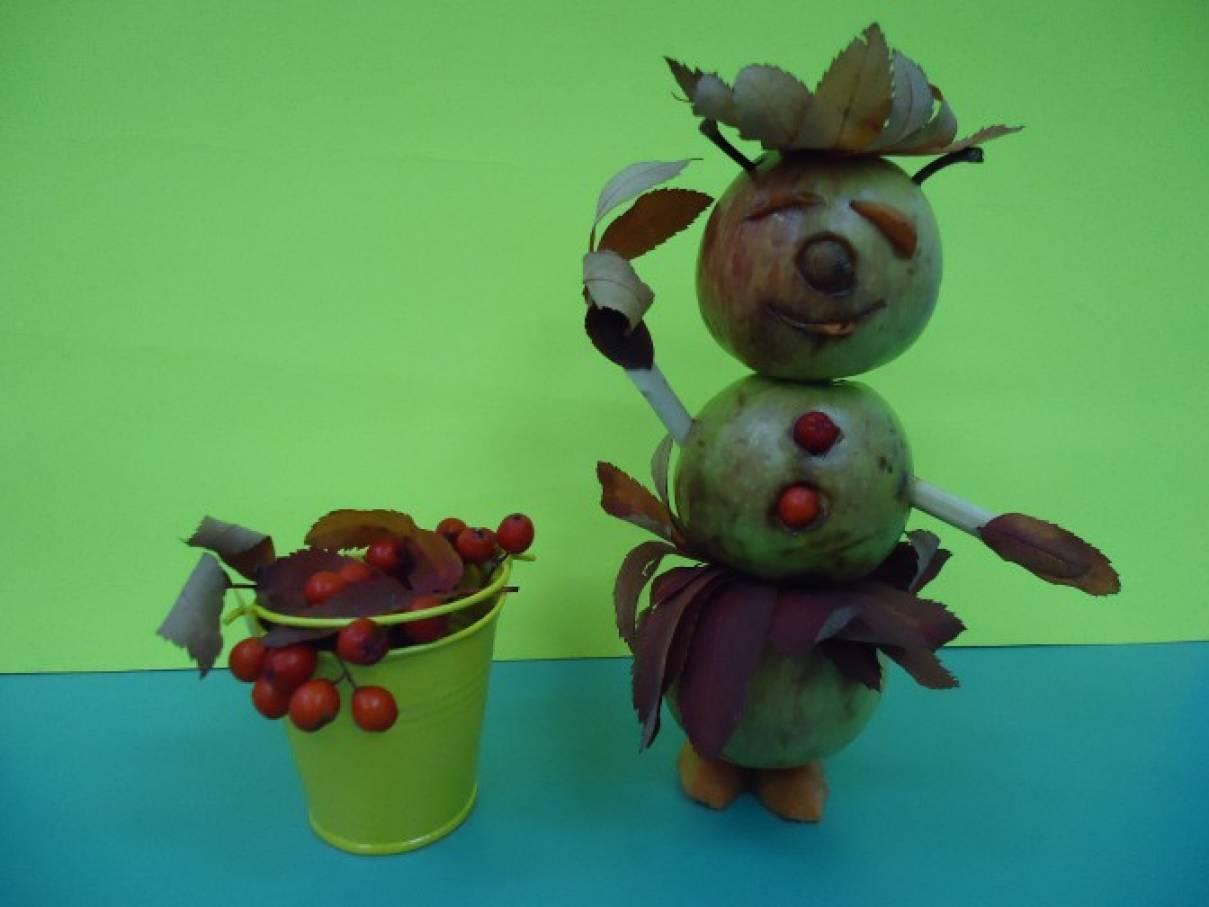 Фотоотчёт о выставке поделок детско-родительских работ из природного материала, овощей, фруктов «Чудесный урожай»