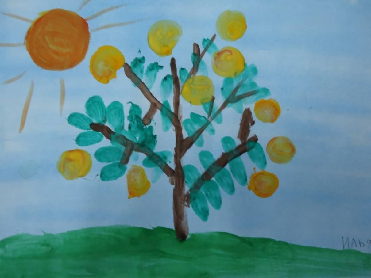 План конспект занятия по рисованию на тему цветущая яблоня