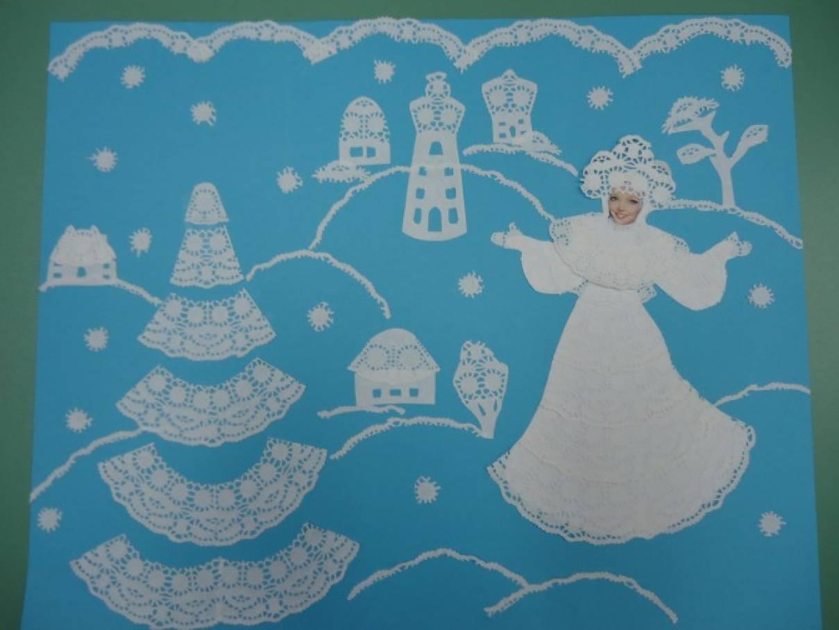 Картинки на тему зима ажурные композиции 114