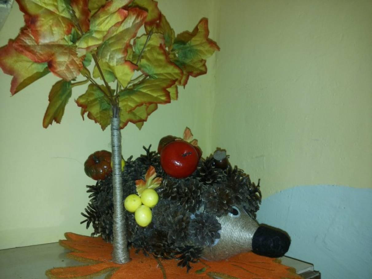 «Осенние фантазии». Фотоотчёт о выставке из природного материала