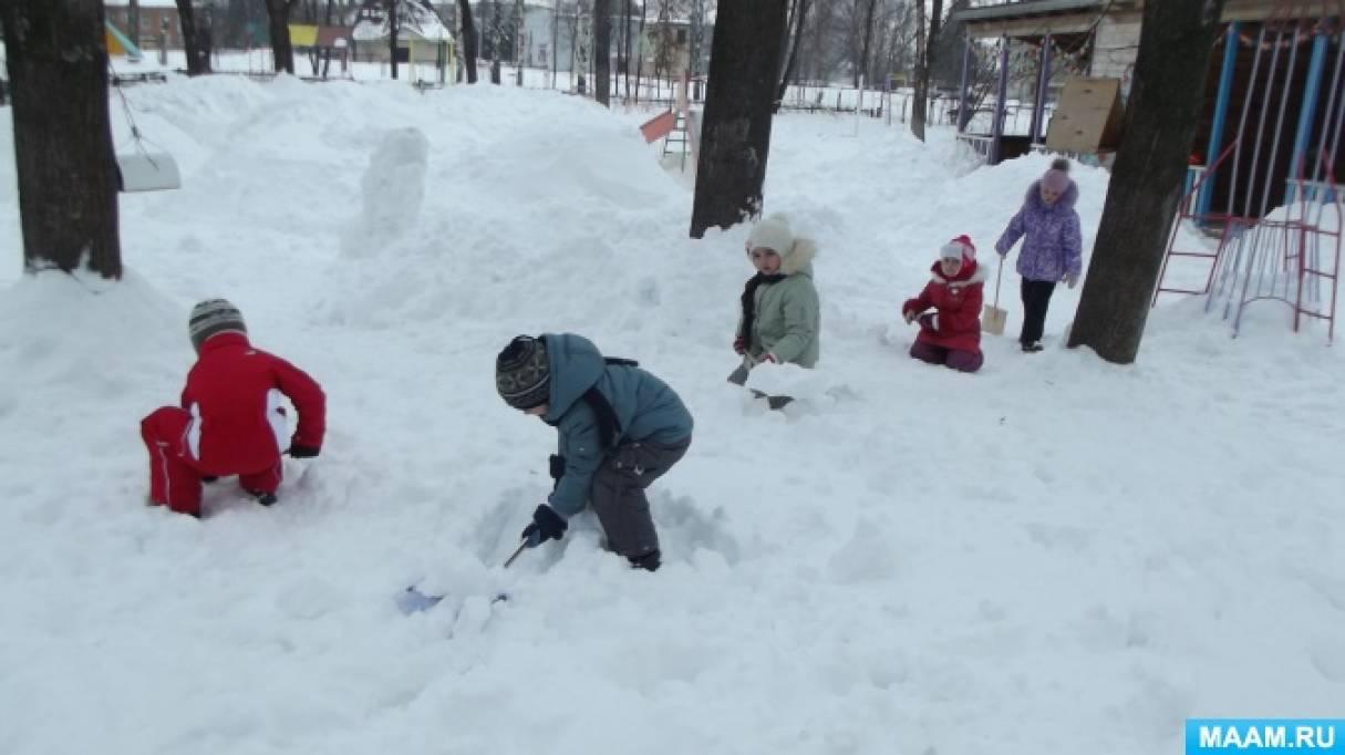 Оформление участка. Снежные постройки