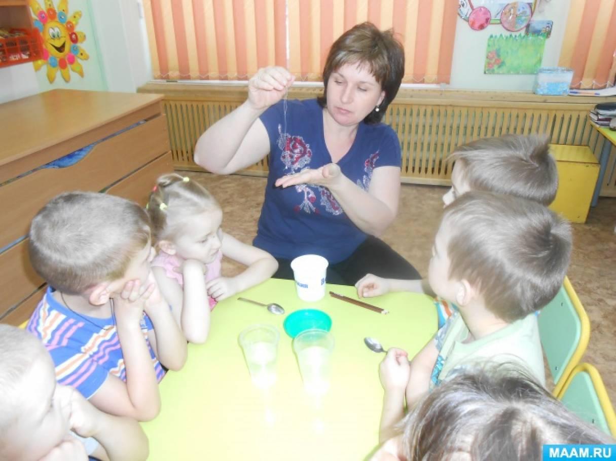 Опытно-экспериментальная деятельность в детском саду. Фотоотчёт «Выращиваем кристалл»
