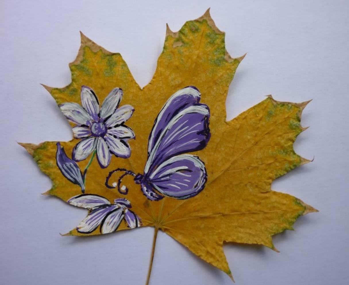 рисунки на листьях клена картинки считается
