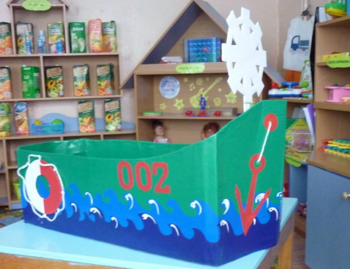 Поделка кораблик детский сад 11