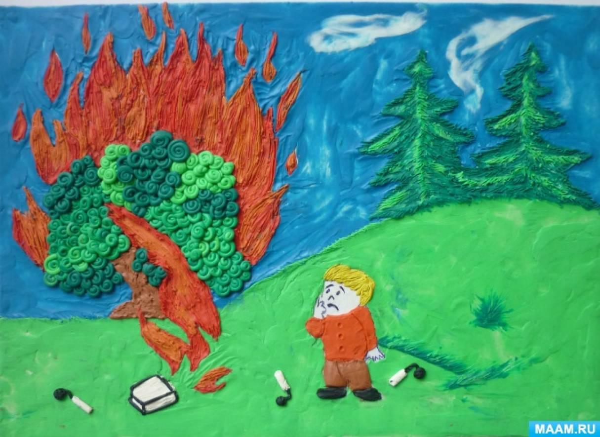 Фотоотчет «Конкурс детского творчества по пожарной безопасности «Неопалимая купина»