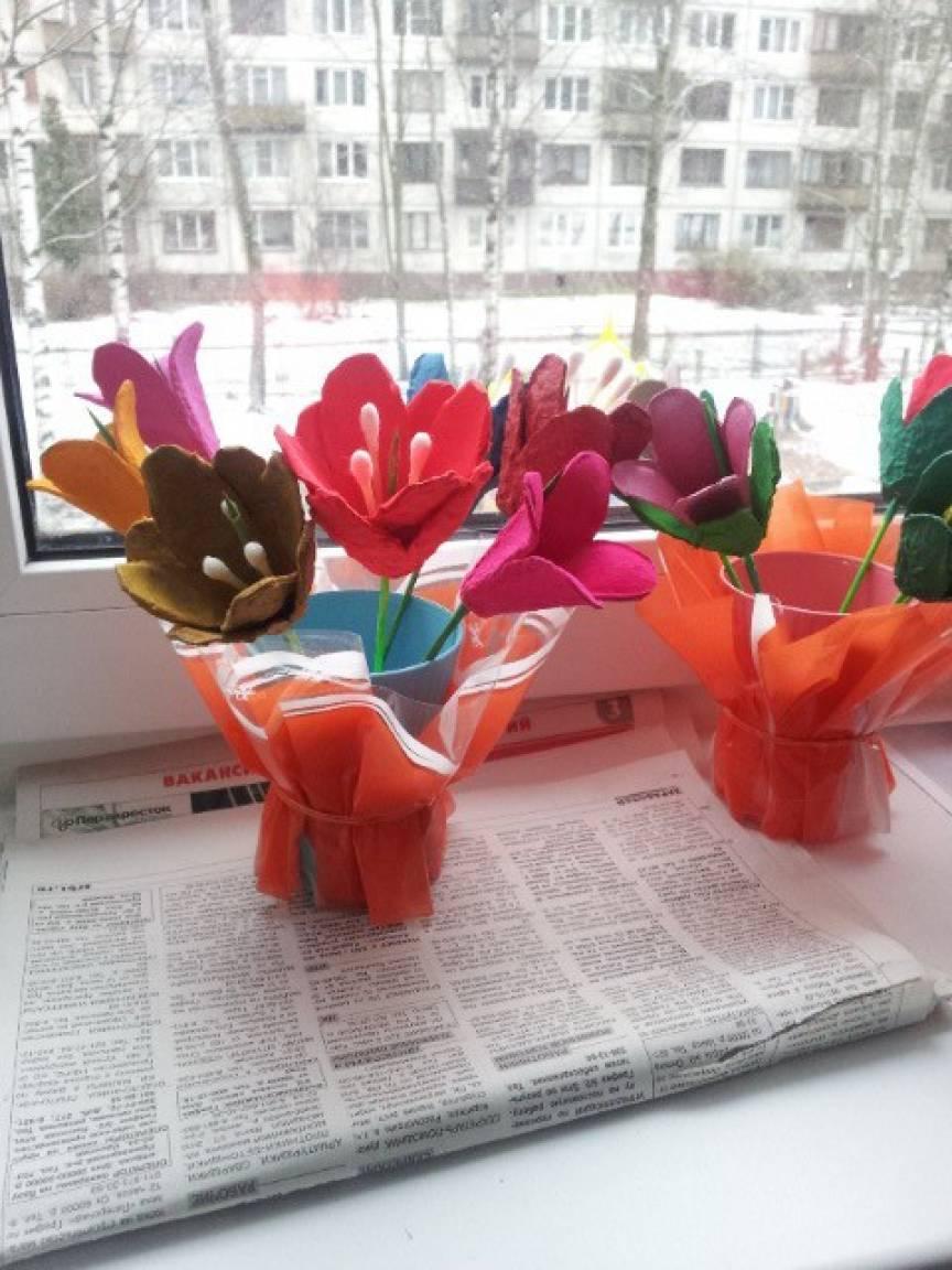 Как сделать плоскостные цветы