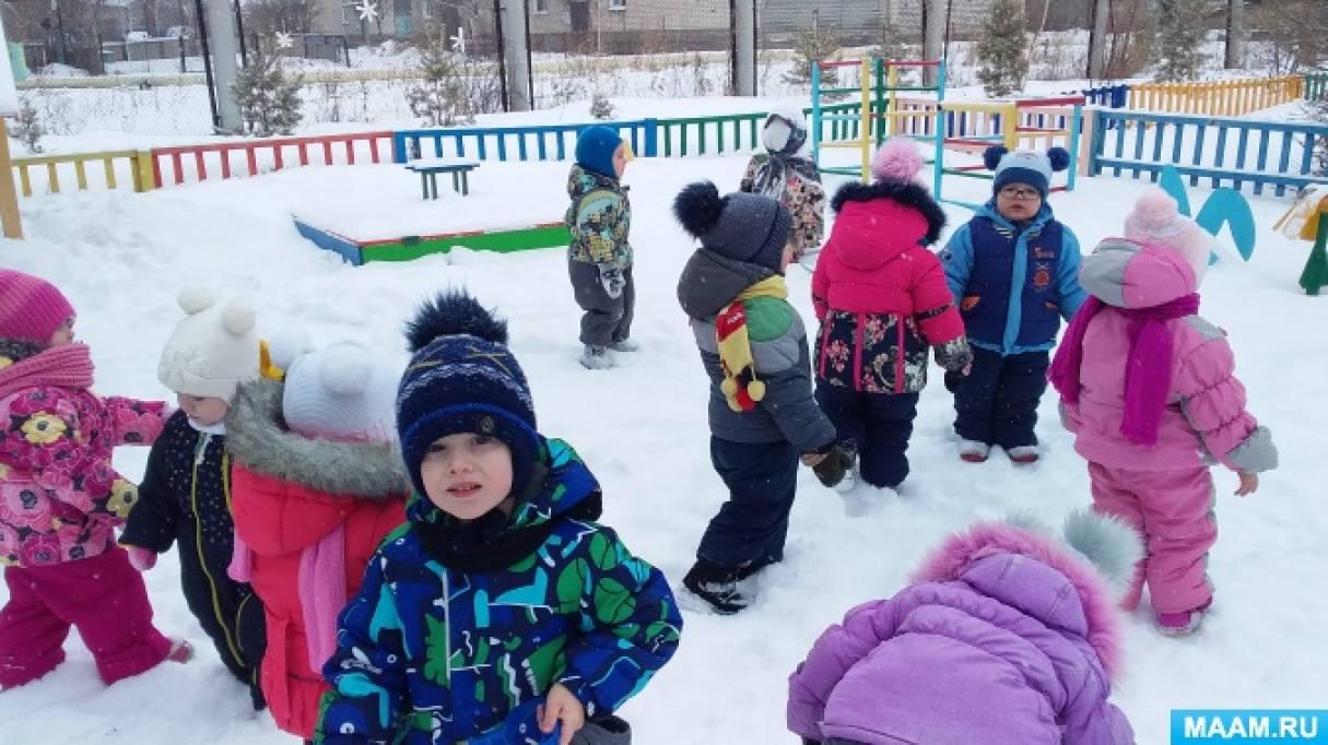 Конспект прогулки и самостоятельной деятельности детей раннего возраста «Морозный день»