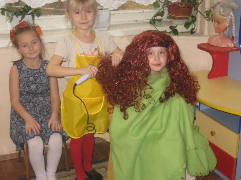 знакомство дошкольников с профессией парикмахера