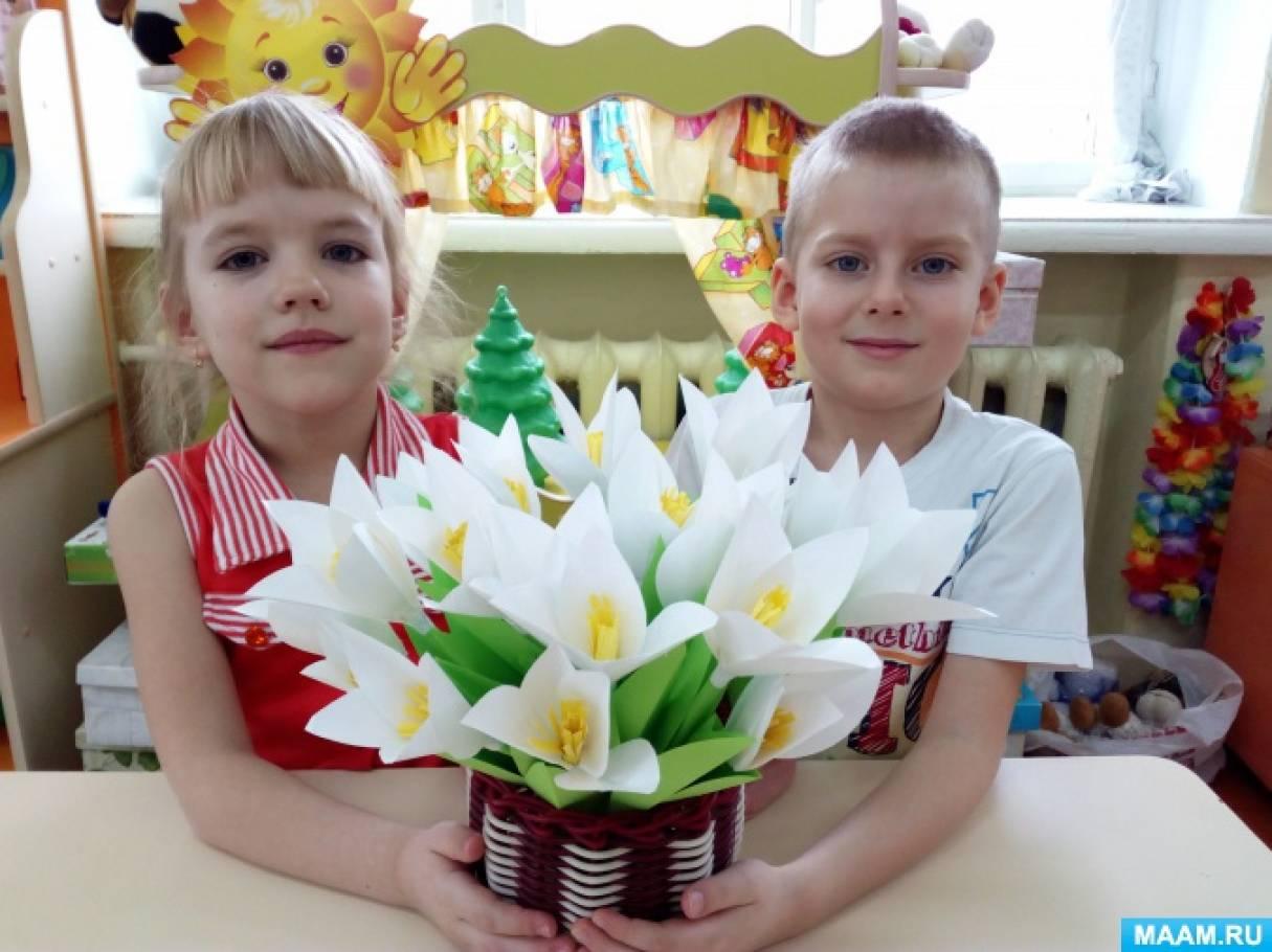 Детский мастер-класс «Корзина с подснежниками»