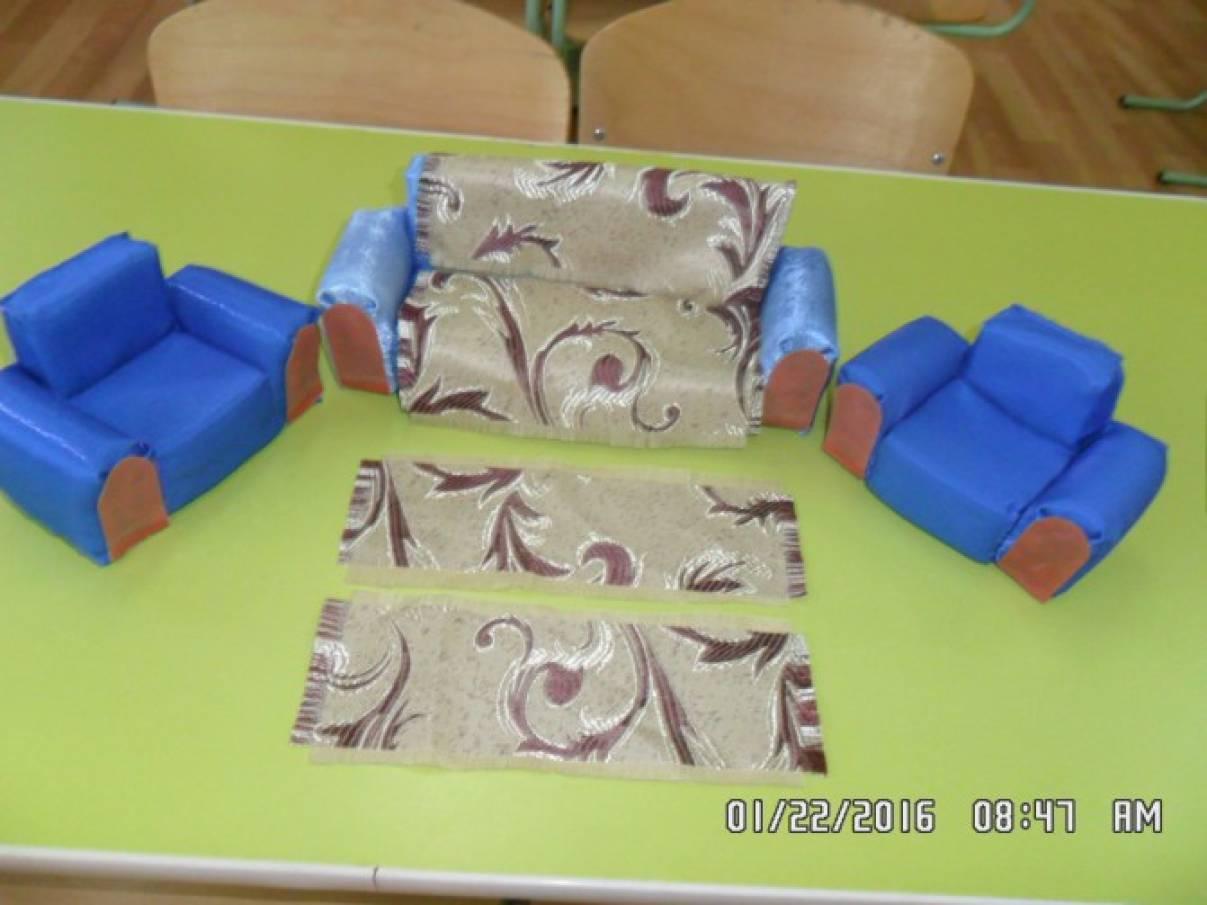 Как сшить диван для кукол барби 87