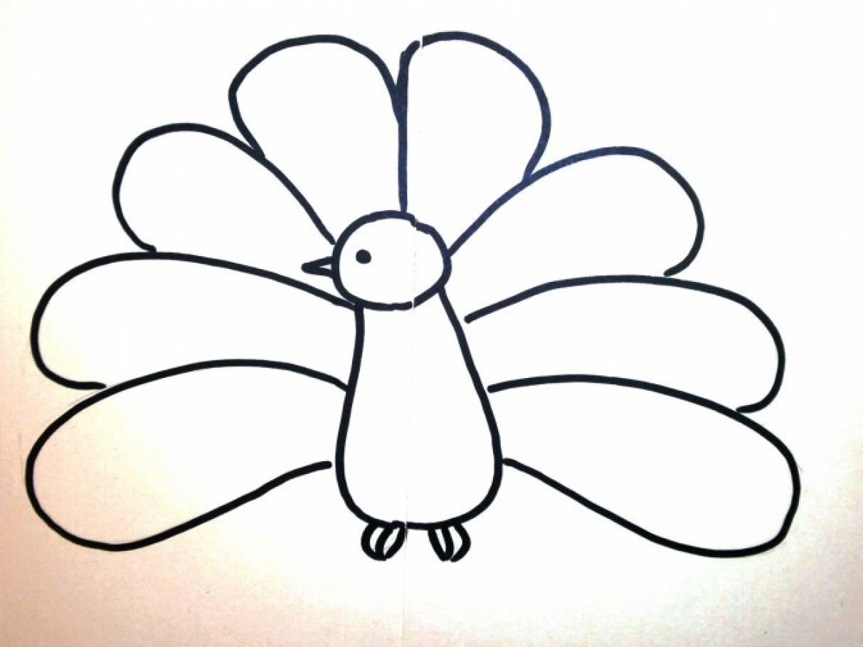 Нарисовать птицу для поделки 50