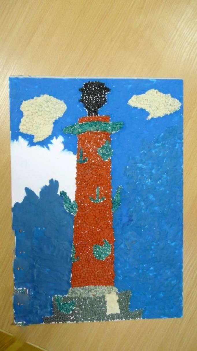 детский ростральные рисунок колонны