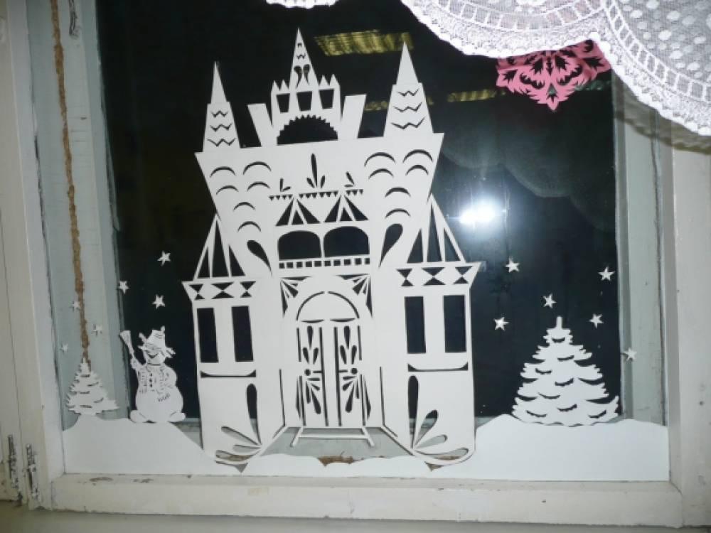 Шаблоны замка снежной королевы