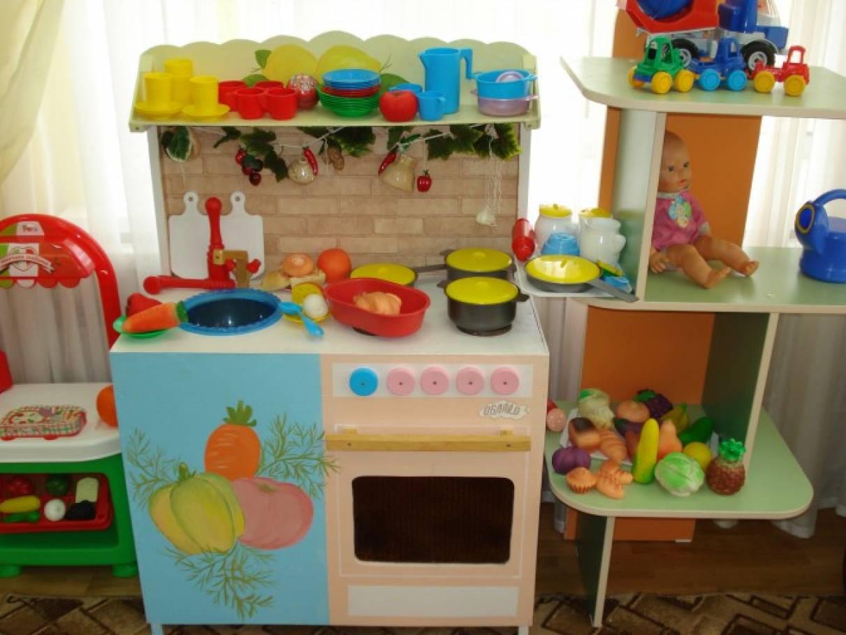 Уголок кухни в детском саду своими руками