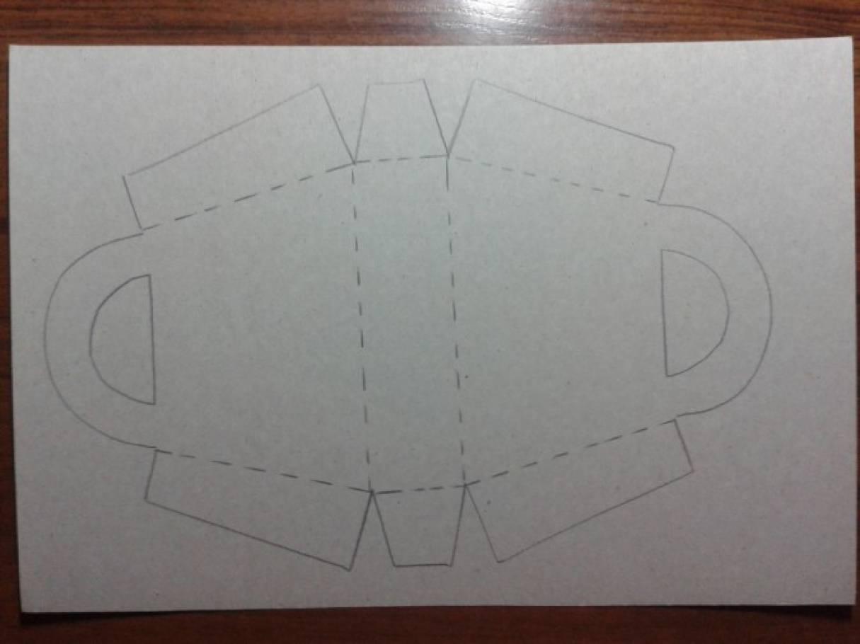 Поделка из бумаги сумочка 6