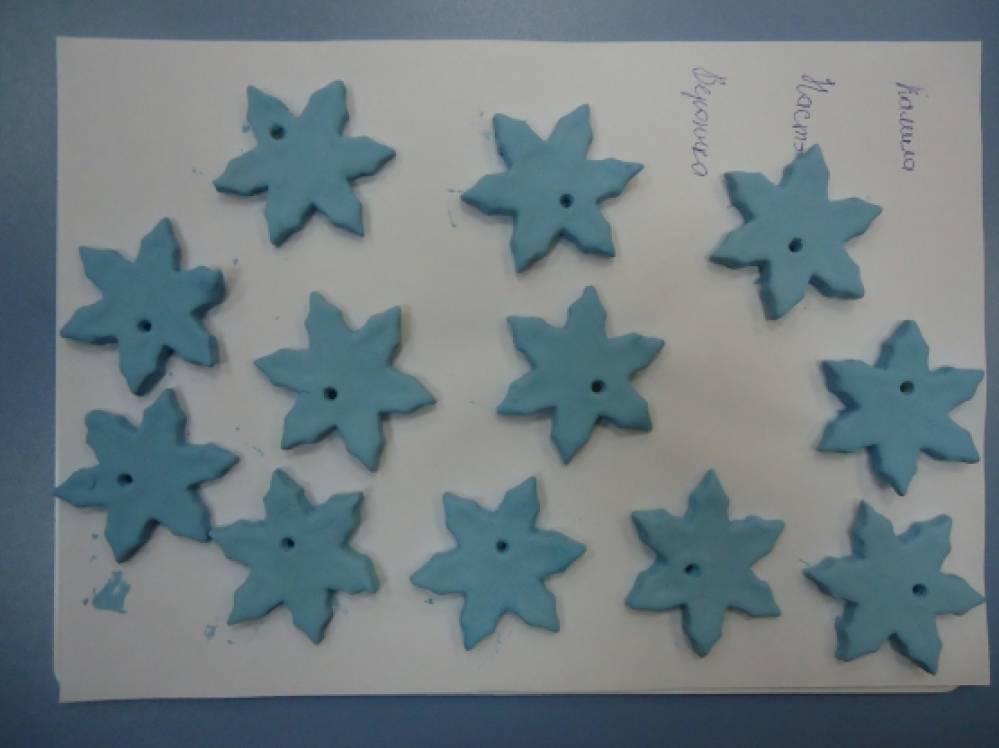 Конспект занятия по лепке из соленого теста в средней группе «Снежинки»