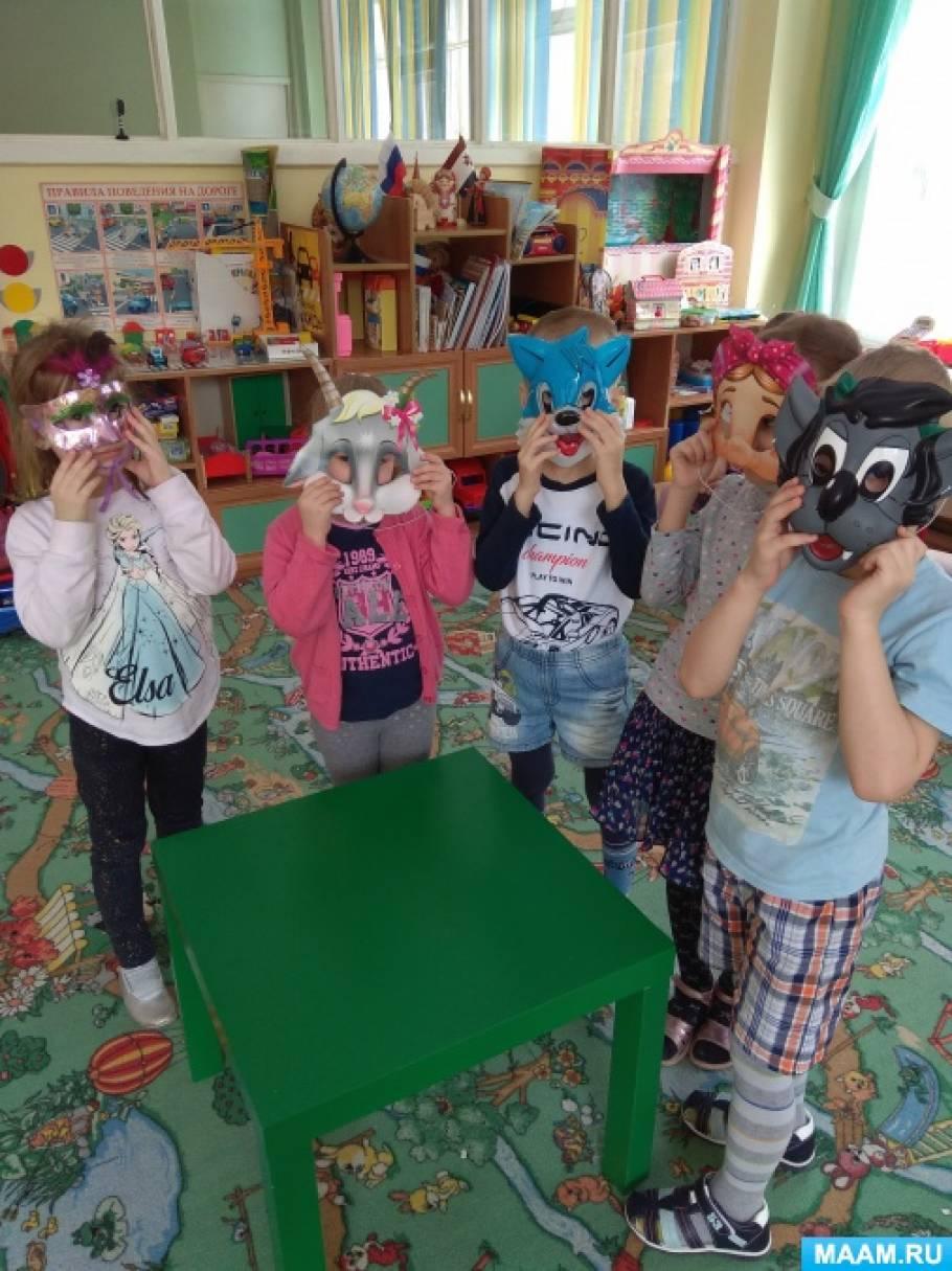 Фотоотчет о занятии по рисованию «Театральные маски»