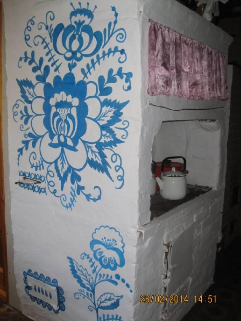 Как раскрасить печь в доме своими руками 38
