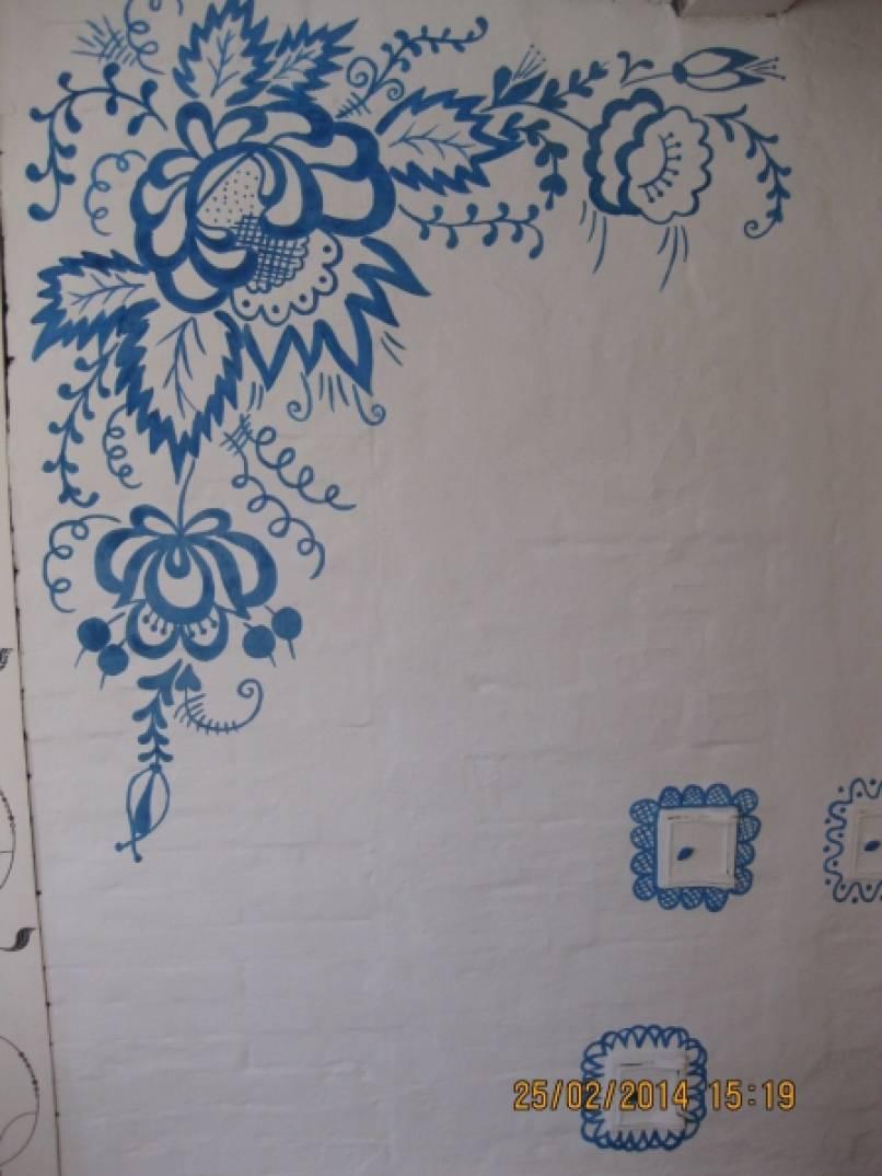 Рисунки на печке в доме