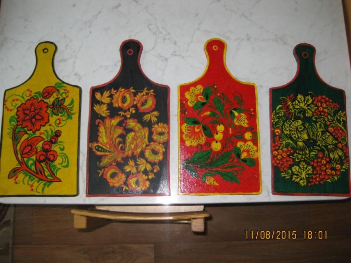 Занятия хохломская роспись