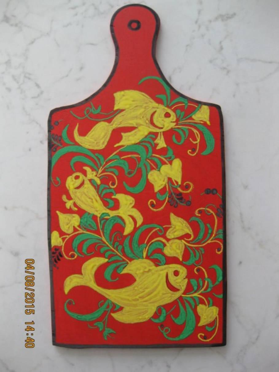 Элементы хохломской росписи мастер класс сделай сам #3