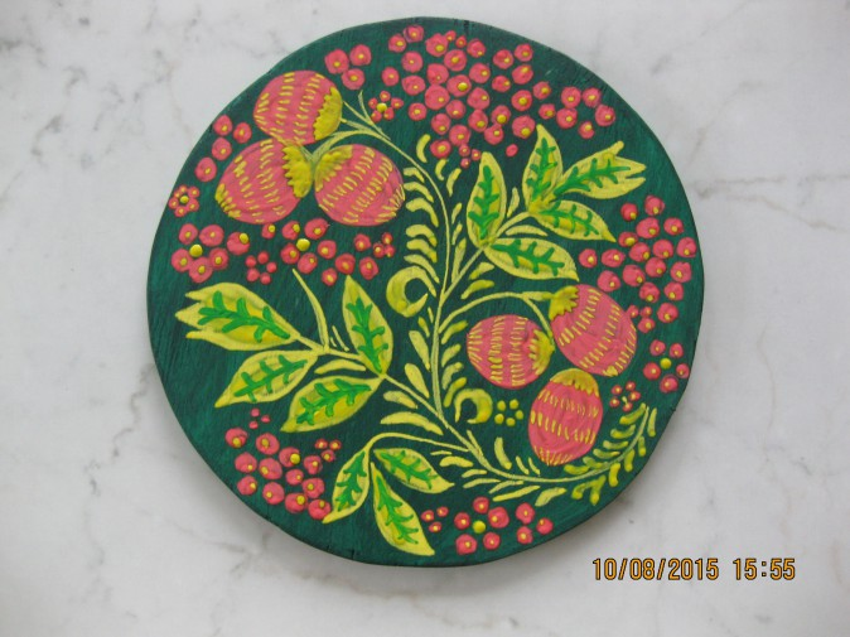 Элементы хохломской росписи мастер класс сделай сам #2