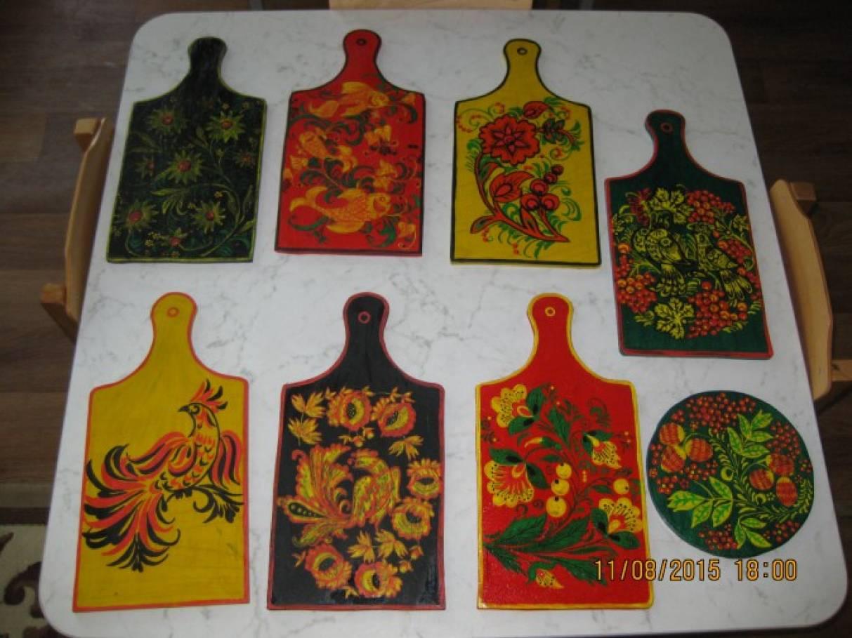 Элементы хохломской росписи мастер класс сделай сам #11