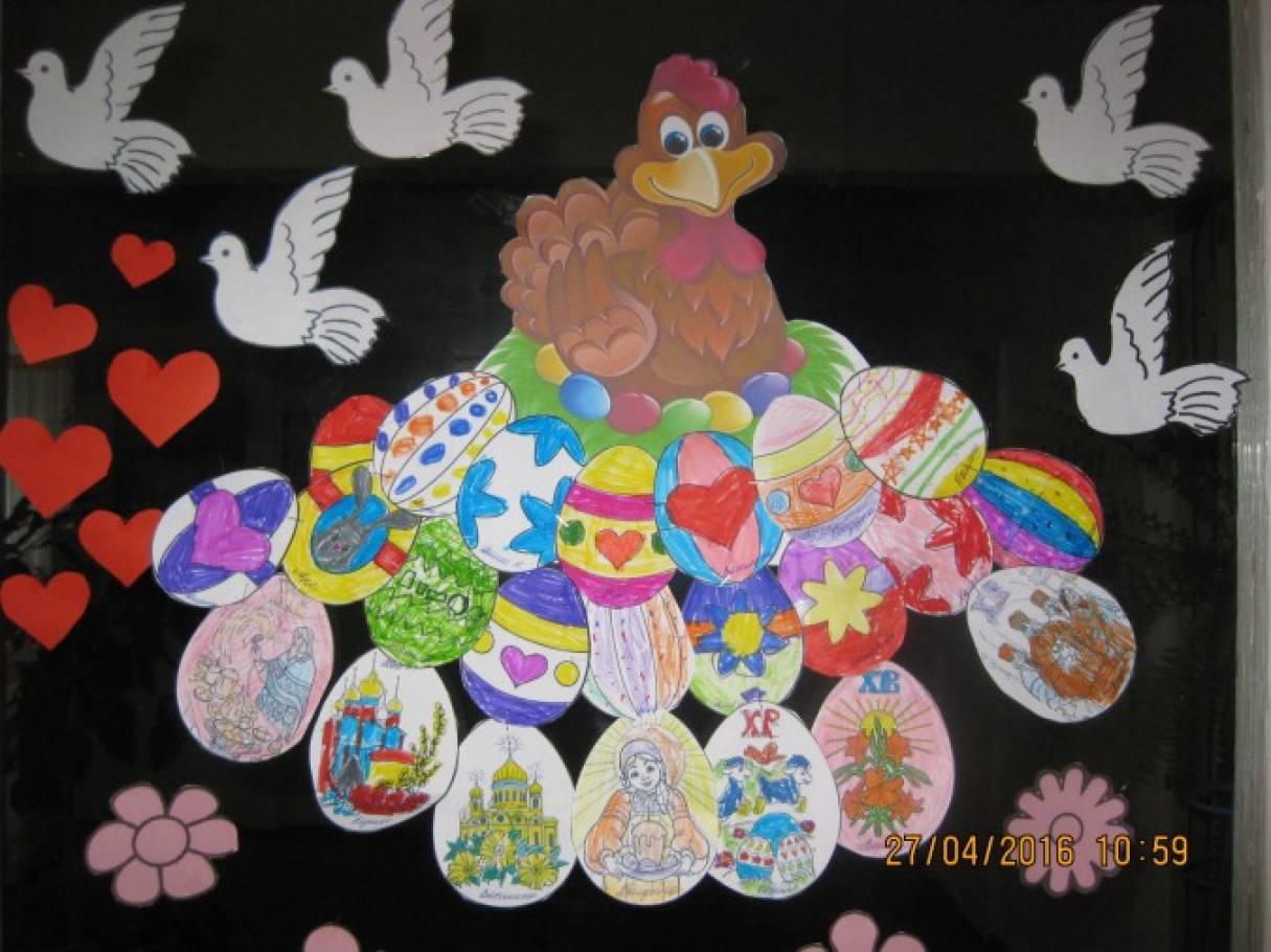 «Пасхальные бумажные яйца» — работы детей подготовительной к школе группы