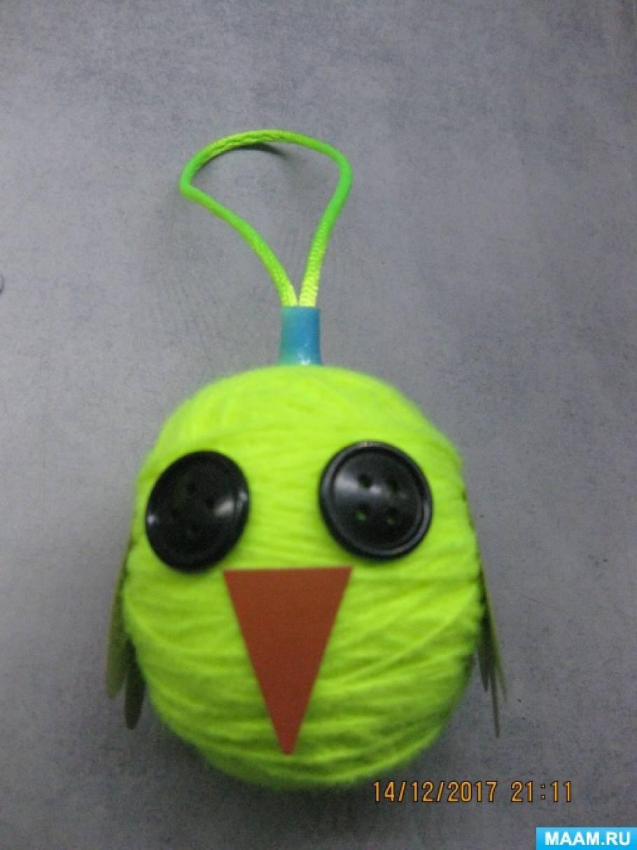 Мастер-класс по изготовлению ёлочной игрушки «Совушка» из пластмассового яйца