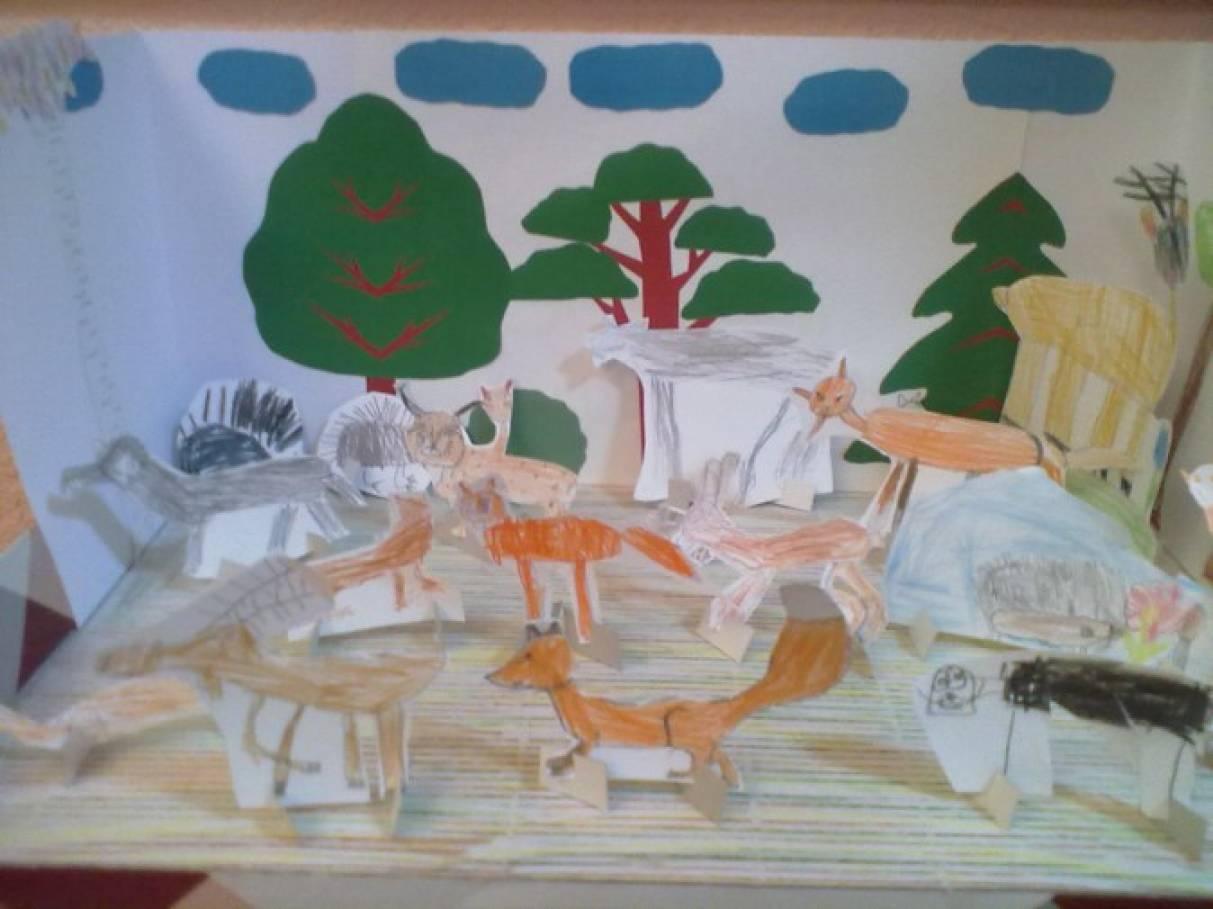 Дидактическая игра-макет по краеведению «Кто живет в лесу»