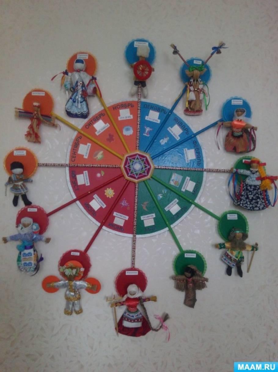 «Вечно следом друг за другом ходят месяцы по кругу». Мастер-класс изготовления календаря народной куклы